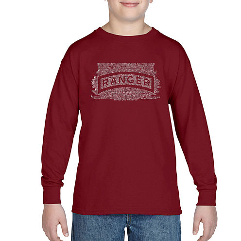 Los Angeles Pop Art The Ranger Creed Graphic T-Shirt-Big Kid Boys