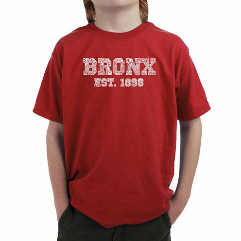 Los Angeles Pop Art Popular Bronx Ny Neighborhoods Graphic T-Shirt-Big Kid Boys