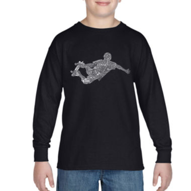 jcpenney.com | Los Angeles Pop Art Popular Skating Moves Graphic T-Shirt-Big Kid Boys