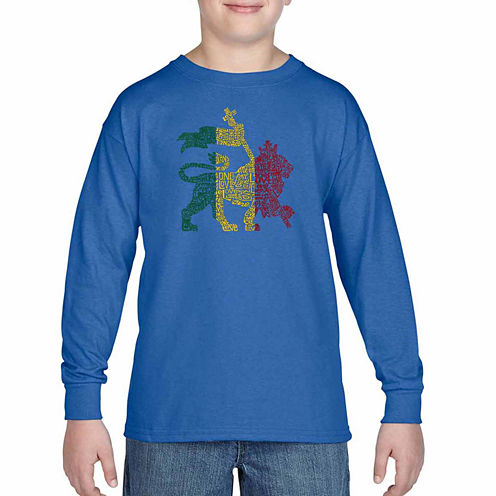 Los Angeles Pop Art One Love Graphic T-Shirt-Big Kid Boys