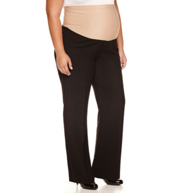 jcpenney.com | duo™ Maternity Overbelly Wide-Leg Career Pants - Plus