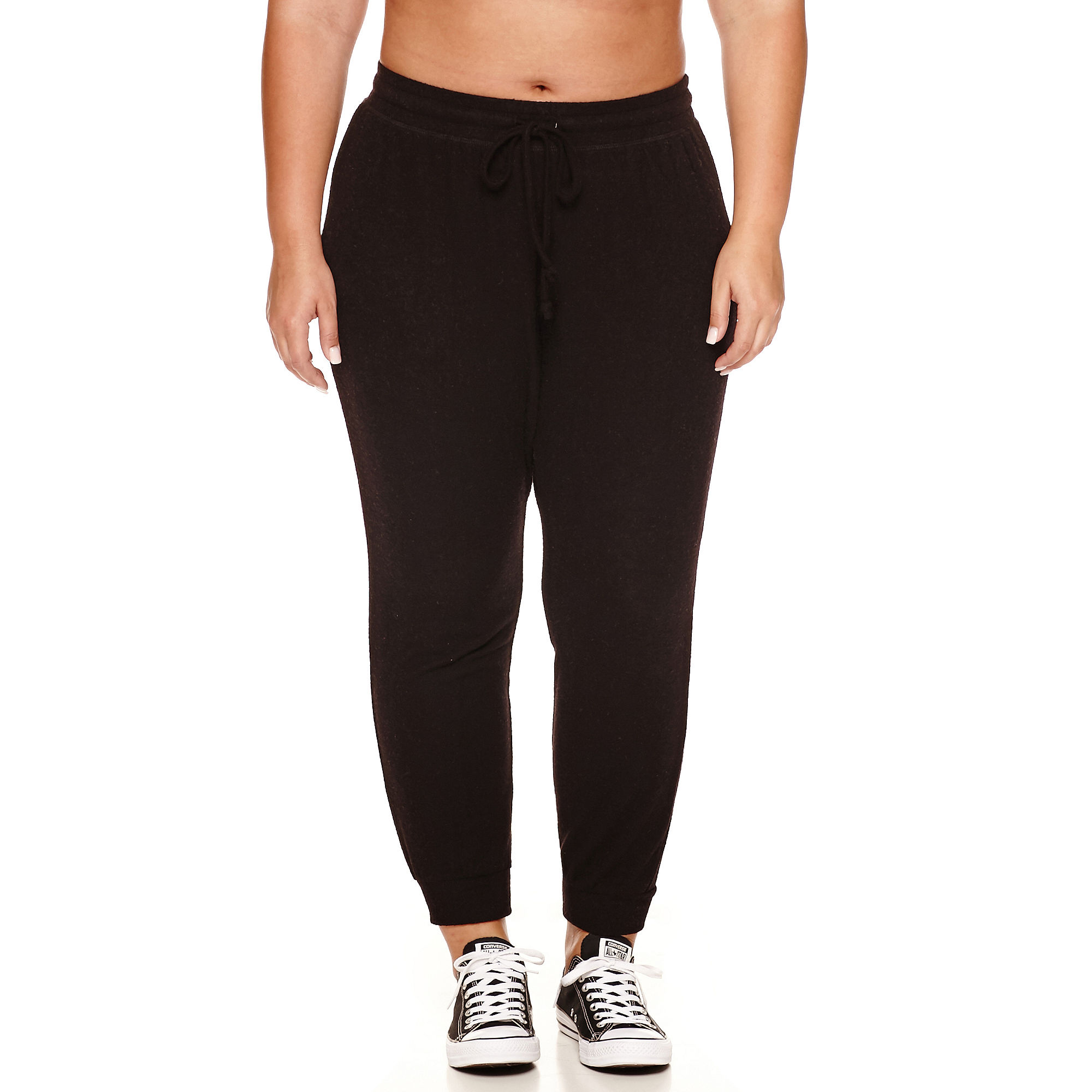 Flirtitude Cozy Fleece Jogger Pants- Juniors Plus plus size,  plus size fashion plus size appare