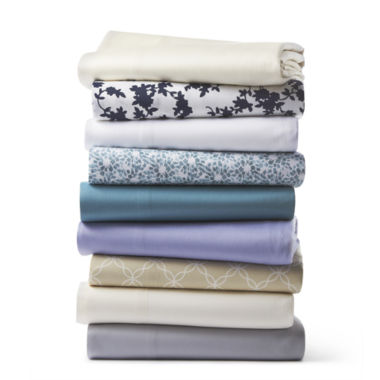 jcpenney.com | JCPenney Home™ 325tc Cotton Print sheet set