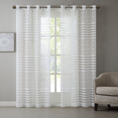 jcpenney.com | Madison Park Claire Grommet-Top Sheer Curtain Panel