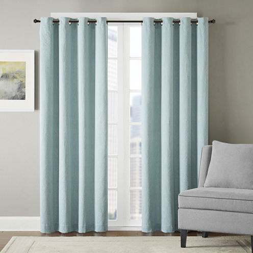 Hayden Chevron Grommet-Top Curtain Panel