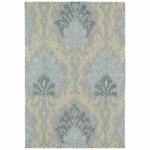 Kaleen Habitat Damask Hand Tufted Rectangular Rugs