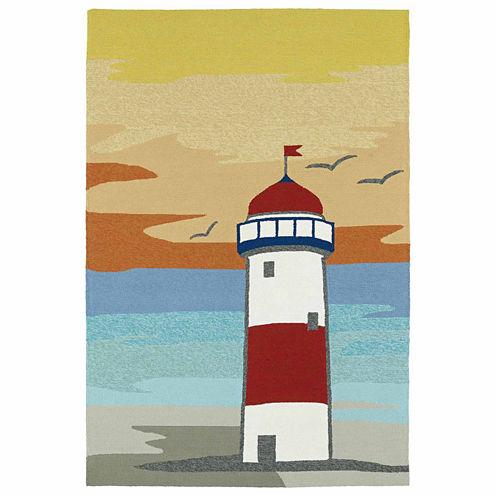 Kaleen Sea Isle Lighthouse Hand Tufted Rectangular Rugs