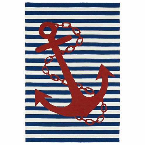 Kaleen Sea Isle Anchor Hand Tufted Rectangular Rugs