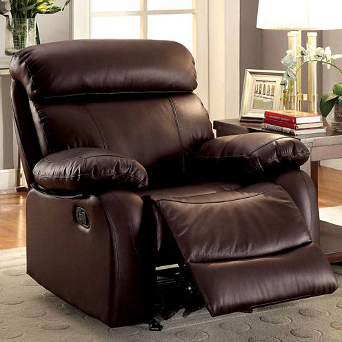 Leather Pad-Arm Chair