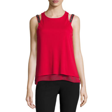 jcpenney.com | Worthington Embellished Strap Top