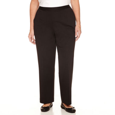 jcpenney.com | Alfred Dunner Casual Friday Woven Flat Front Pants-Plus Short