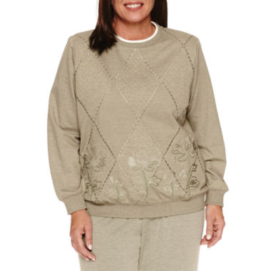 jcpenney.com | Alfred Dunner Long Sleeve Crew Neck T-Shirt-Plus