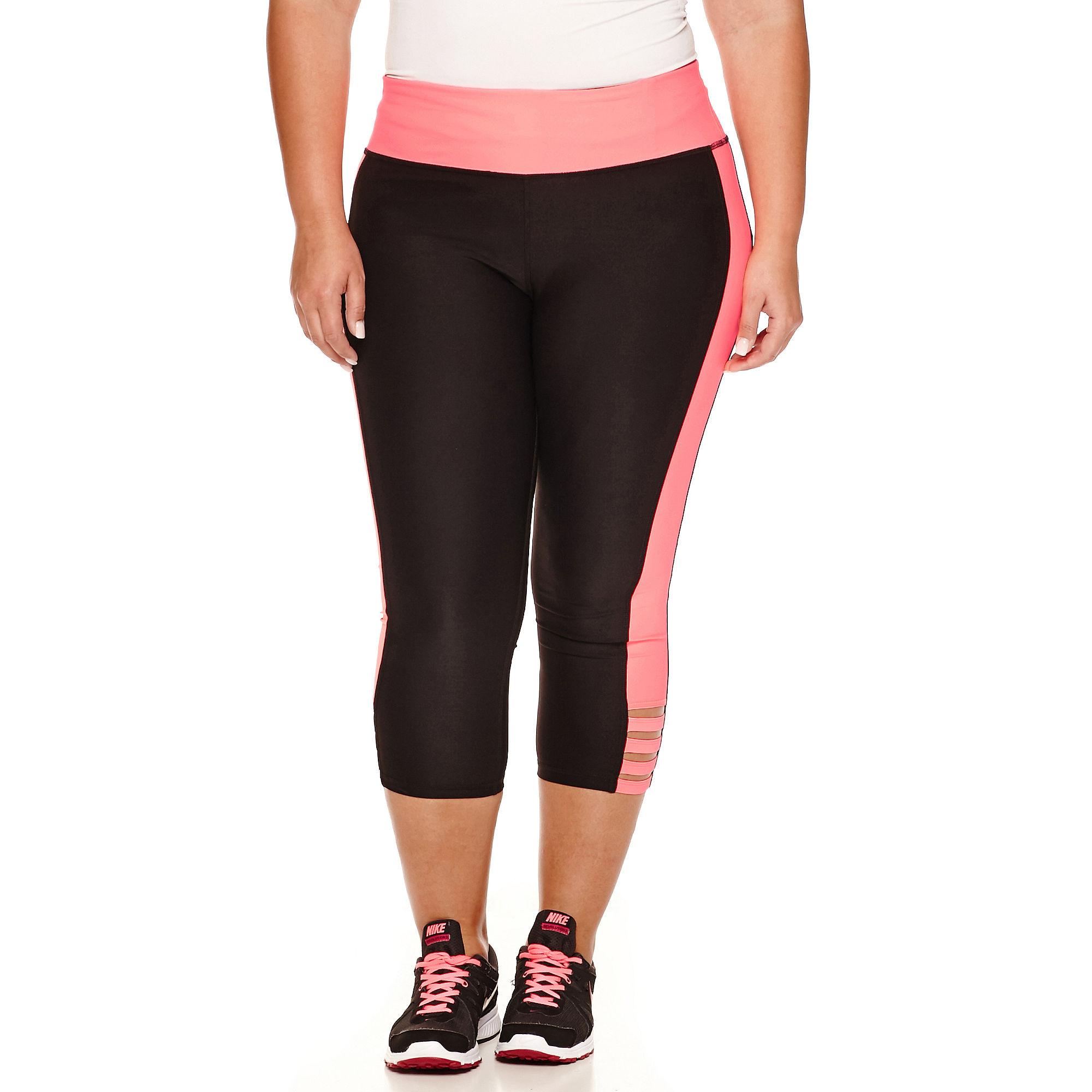 Xersion Knit Workout Capris Plus plus size,  plus size fashion plus size appare