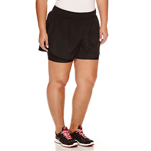 Xersion™ Solid Running Shorts Plus