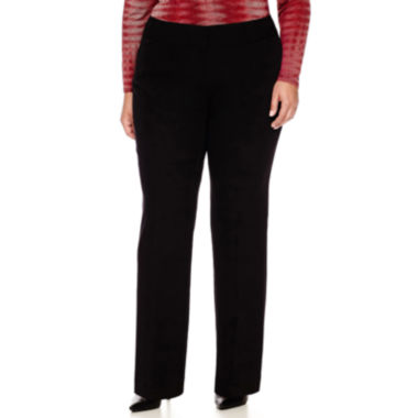 jcpenney.com | Worthington® Clean Waistband Fit-and-Flare Trousers - Plus