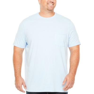 The Foundry Big & Tall Supply Co. Mens Crew Neck Short Sleeve Pocket T-Shirt