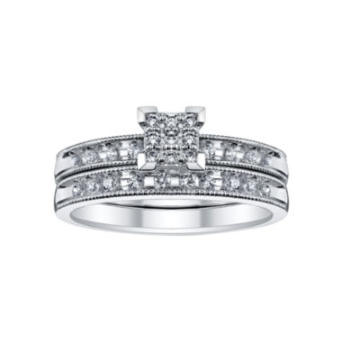 jcpenney.com | 1/4 CT. T.W. Diamond Bridal Set