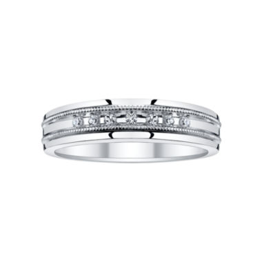 jcpenney.com | Mens 1/10 CT. T.W. Diamond Coin-Edged Wedding Band