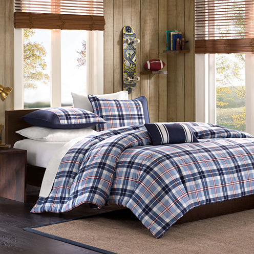Alton Plaid Comforter Set