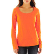 jcp™ Long-Sleeve Slub Tee