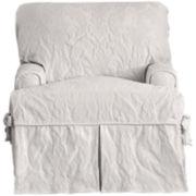 SURE FIT® Matelassé Damask 1-pc. T-Cushion Chair Slipcover