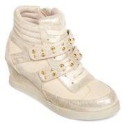 Stevies® Girls High-Top Shimmer Sneakers