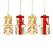 MarthaHoliday™ The Night Before Christmas Set of 4 Gift Box Christmas Ornaments