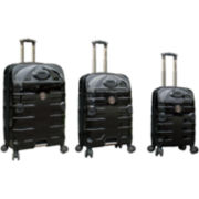CLOSEOUT! FORD Mustang 3-pc. Modern Hardside Spinner Upright Luggage Set