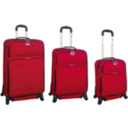 CLOSEOUT! FORD Focus 3-pc. Expandable Spinner Upright Luggage Set