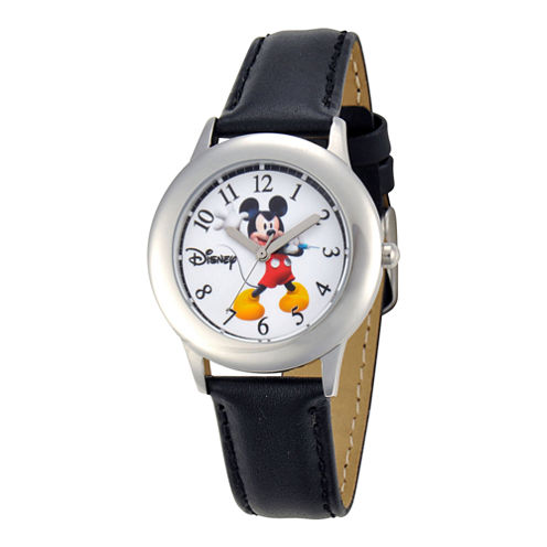 Disney Mickey Mouse Leather Strap Watch