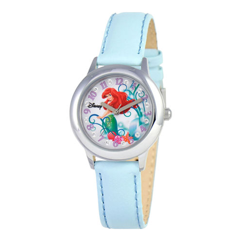 Disney Ariel Glitz Blue Strap Watch