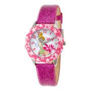 Disney Tinker Bell Glitz Pink Strap Watch