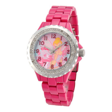 jcpenney.com | Disney Womens Tinker Bell Pink Enamel Watch