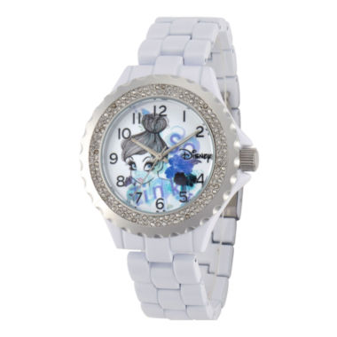 jcpenney.com | Disney Womens Tinker Bell White Enamel Watch
