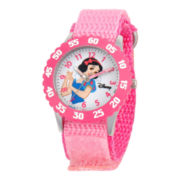 Disney Kids Snow White Time Teacher Kids Stainless Steel Pink Strap Watch