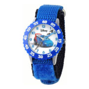 Disney Cars Time Teacher Kids Blue Strap Watch