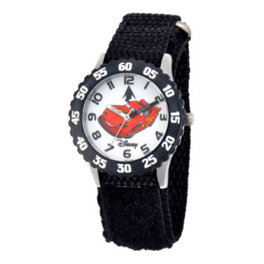 jcpenney.com | Disney Cars Time Teacher Kids Black Strap Watch