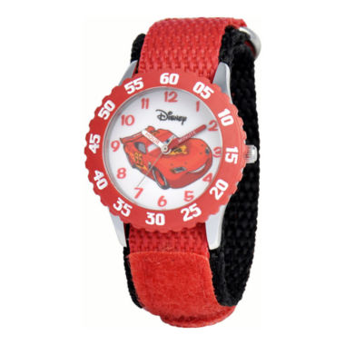 jcpenney.com | Disney Cars Time Teacher Kids Red Strap Watch
