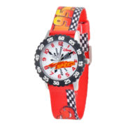 Disney Cars Time Teacher Kids Racetrack Strap Watch