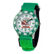 Disney Planes El Chupacabra Time Teacher Kids Green Strap Watch