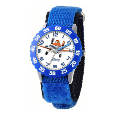 jcpenney.com | Disney Planes Dusty Crophopper Time Teacher Kids Blue Strap Watch
