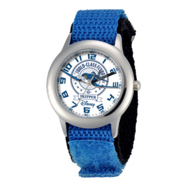 jcpenney.com | Disney Planes Skipper Riley Time Teacher Kids Blue Strap Watch
