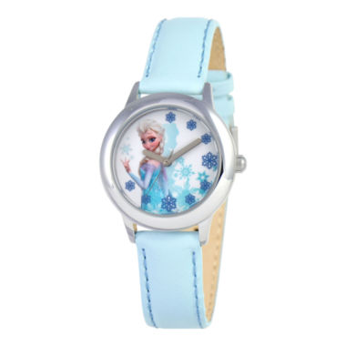 jcpenney.com | Disney Frozen Snow Queen Elsa Blue Strap Watch