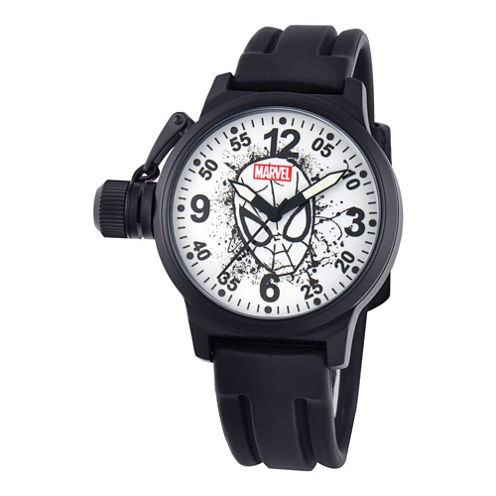 Disney Marvel® Mens Spider-Man Crown Protector Watch