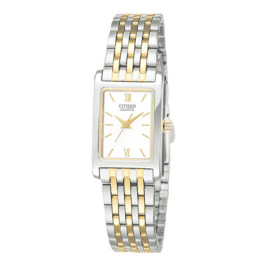 jcpenney.com | Citizen® Womens Rectangular Two-Tone Stainless Steel Bracelet Watch EJ5854-56A