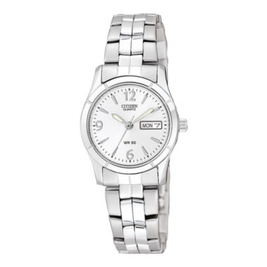 jcpenney.com | Citizen® Womens White Dial Stainless Steel Bracelet Watch EQ0540-57A
