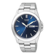 Citizen® Mens Blue Dial Stainless Steel Watch BF0580-57L