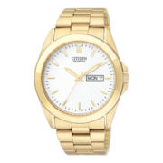 Citizen® Mens Gold-Tone Watch with Day/Date Display BF0582-51A
