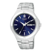 Citizen® Mens Silver-Tone Watch with Date Display BF0590-53L