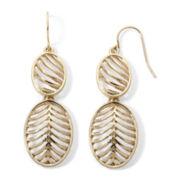 Liz Claiborne® Gold-Tone Double Drop Earrings
